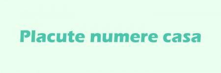 Placute numere casa (0)